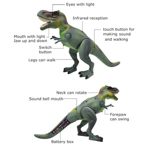 RC Remote Control Lights & Sound Talking Walking T-Rex Toy