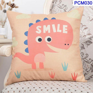 Dinosaur Cotton Linen Throw Pillow Covers