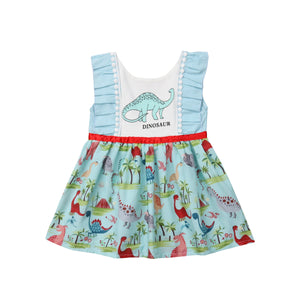Baby Ruffled Princess Dinosaur Jumper Dress