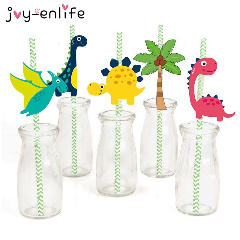 36 Piece Dinosaur Party Paper Environmentally Friendly Straws