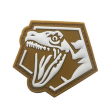 PVC Fabric Dinosaur Glow In The Dark Badge Patch