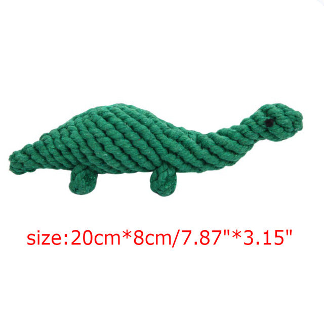 Cotton Rope Dinosaur Dog Chew Toy