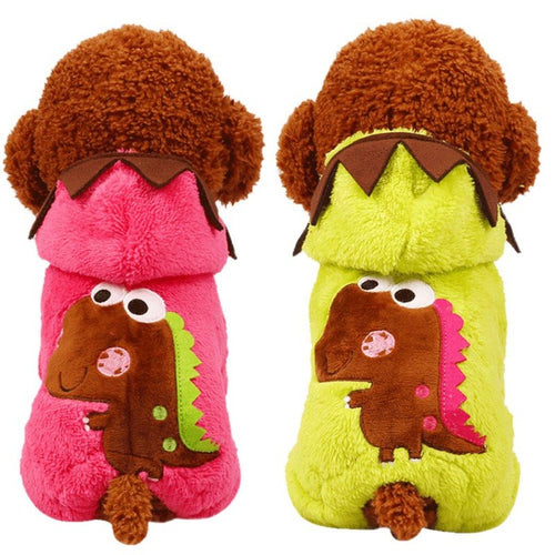 Pet Cat Dog Chenille Dinosaur Onesie