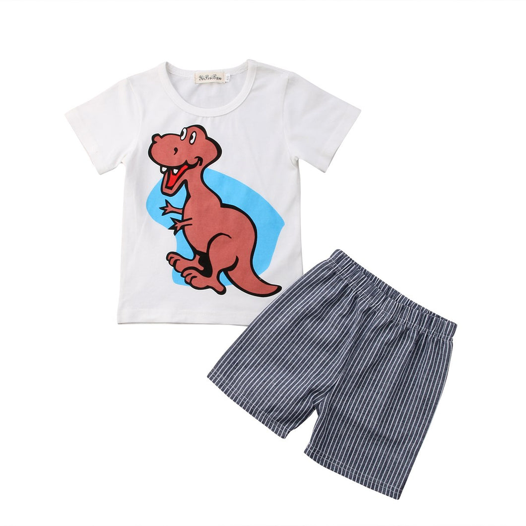 Dinosaur T-shirt & Shorts Cotton 2 Piece Set