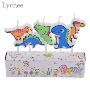 5 Piece Dinosaur Birthday Cake Candles