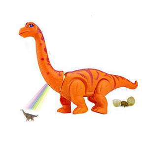 "15"" Large Realistic Walking Egg Laying Brontosaurus Dinosaur Toy With Sounds & Light"