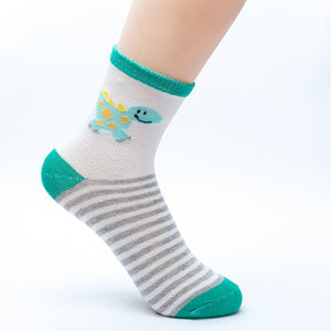5 Pair Children's  Dino Socks