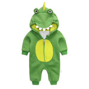 Cotton Baby Dinosaur Jumpsuit spring and autumn