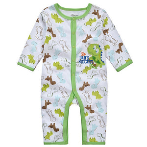 I'm Dads Biggest Fan Cotton Applique Romper