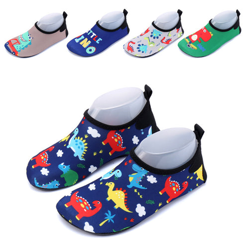 Dinosaur Slip On Safety Swim Shoes Socks