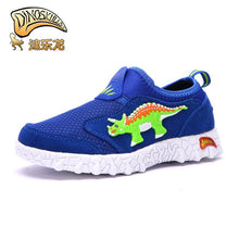 Triceratops Dinosaur Slip On Mesh Sneaker Tennis Shoes
