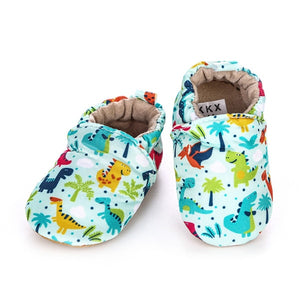Baby's First Walkers Soft Infant Toddler Dino Shoes Moccasins