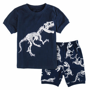 100% CottonT-Rex Bones Dinosaur 2 Piece Shorts and T-Shirt Set