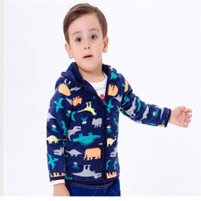 Hooded Fleeced Lined Dinosaur Coat