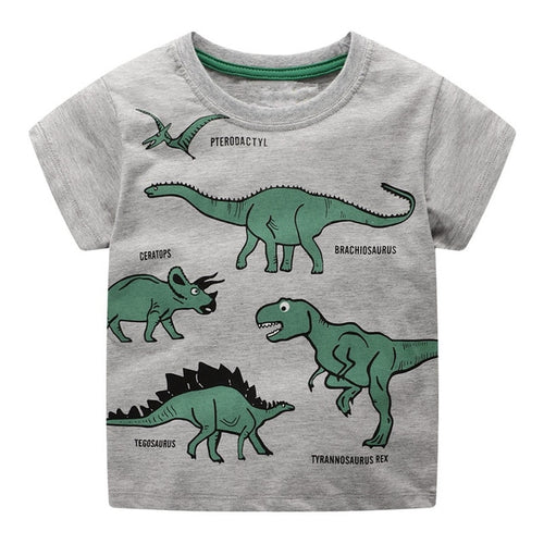 Green With Envy Dinosaur Kids T-Shirt