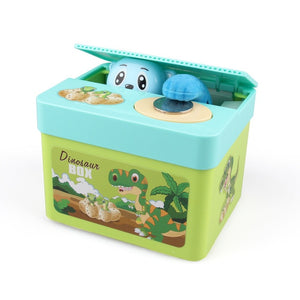 Electronic Dinosaur Jack In The Money Box Piggy Bank