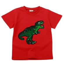 """You Think You're Fancy Huh"" Sequin Dinosaur T-Shirt"