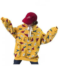 Cartoon Cotton POW Dinosaur Hoodie Pullover