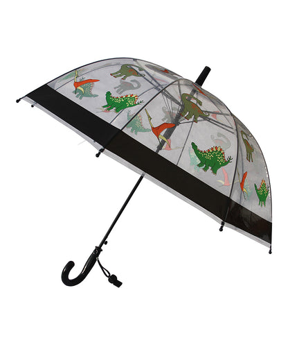 Clear & Orange Dinosaur Umbrella