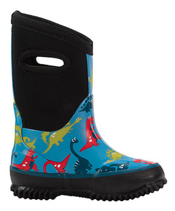 Blue Dinosaur Neoprene Rain/Snow Boot