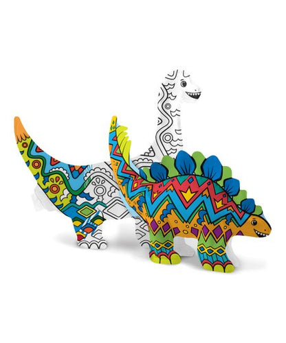 Dinosaur Friends 3-D Colorables Kit