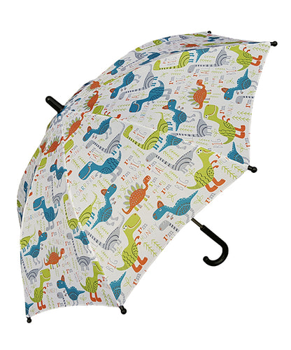 White & Green Dinosaur 'ROARRRR' Kids Umbrella