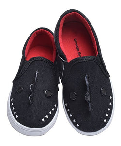 Black & Red Dinosaur Slip-On Sneaker