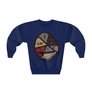 Egauw Facer Youth Artist Designer Crewneck Sweatshirt for Kids