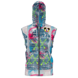 AEQEA Fake ManHeady Sleeveless All-Over-Print Zipper Hoodie