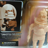 Goccodo Astrao Unkotsu Soldier Mini Sofubi Carded Blank Unpainted Flesh Colored Soft Vinyl Designer Toy