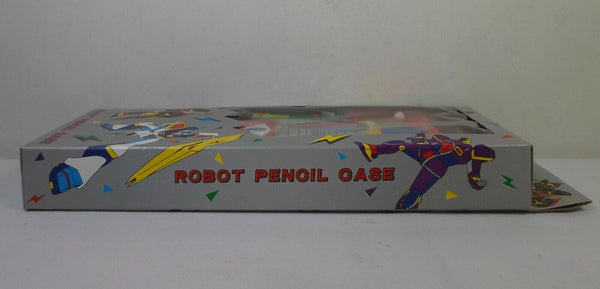 80's Gundam Red Robot Vintage 10'' Pencil Case Box w/ Mechanical Buttons in Package