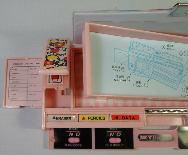 Snow White Vintage Mechanical Pencil Case 80s Greece Stationary Button Box