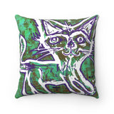 P8N Kitty Cat Throw Pillow - Youth Artist Collaboration
