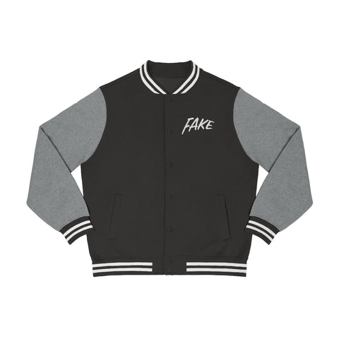 Fake Men Varsity Jacket
