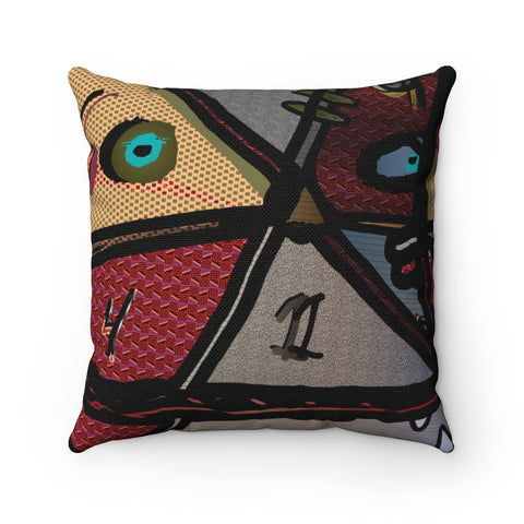 Facer Square Pillow Case by Egauw