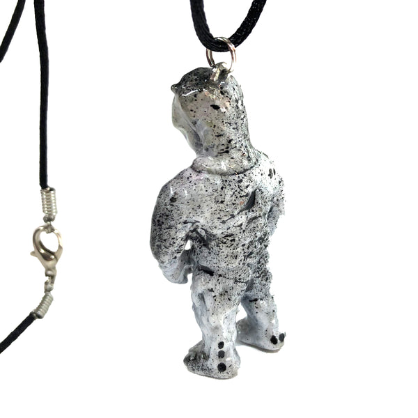MVH Ollie VAG Sofubi Custom Designer Toy Pendant Ollieun Necklace by AEQEA