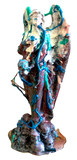 Angel of Stress AEQEA Custom Statue Appropriation Artwork Painted 3D Print + Resin