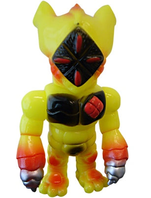 RealxHead Jinja-R Sofubi Yellow Mutant Zone Series 2 Painted Soft Vinyl Designer Toy Figure