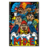 Million Dollar Extreme MDE Never Dies Bombsquad Poster Print