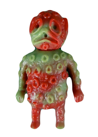 Blurble One Ooze-It Ooze In My Pocket Keshi Art Toy Green/Red Unpainted Marbled Rubber Figure Blank Alien Monster