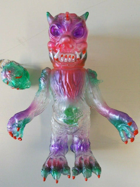 Bukimi Blasters Evil Demon Sofubi Clear Soft Vinyl Kaiju Custom Purple Pink Green Painted Shigeo Endo Designer Toy Figure