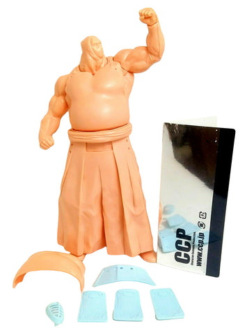 CCP Kinnikuman Bigguza Sofubi Kit Flesh Unpainted Soft Vinyl Martial Arts Figure Japan