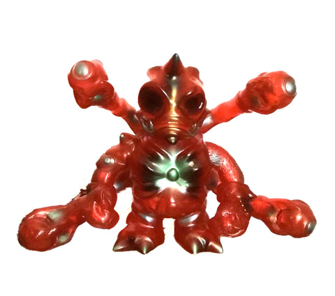 Cronic Maverasu Ruby Red Sofubi Kaiju Soft Vinyl Designer Art Toy w/ Metallic Paint