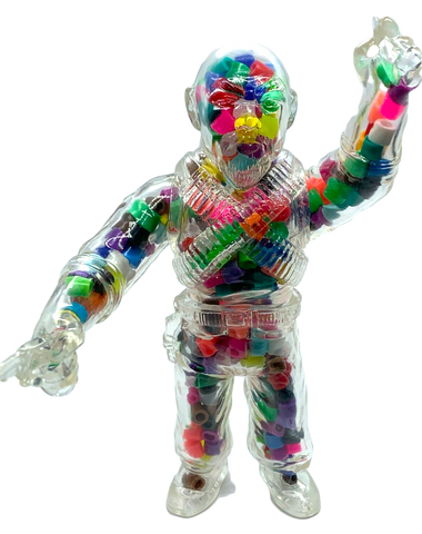 Max Toy Wing Kong Sofubi Big Trouble in Little China Custom Confetti Eddie Designer Toy Figure