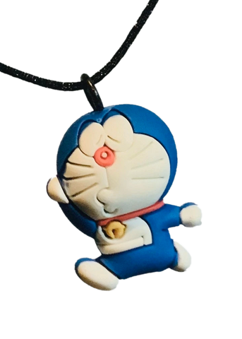 Doraemon Figure Anime Pendant Soft PVC Key Chain Necklace Bag Charm - Kissy Face