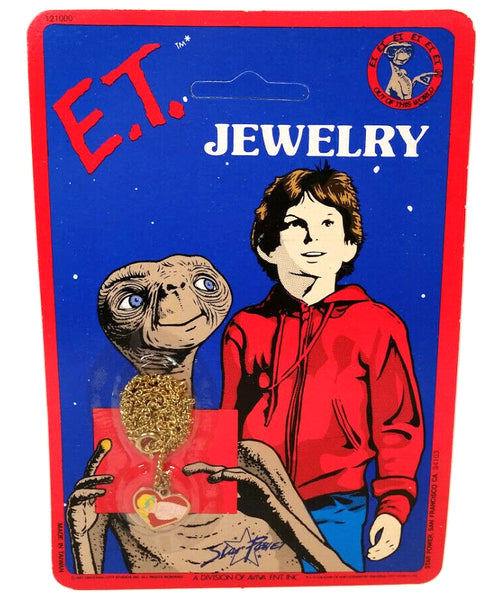 E.T. The Extra Terrestrial Charm Necklace Vintage Jewelry 1982 Star Power Aviva Ent Inc. (5 styles)