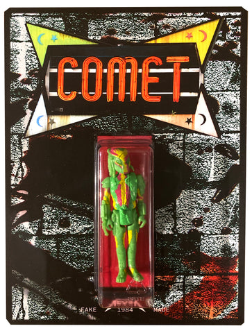 FAKEMADE1984 Comet Ping Pong Pizzagate Action Figure Bootleg Knockoff Custom Carded Art Toy by AEQEA