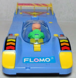 Flomo Retro Race Car Mechanical Pencil Case Vintage Blue Racing Stationary Box