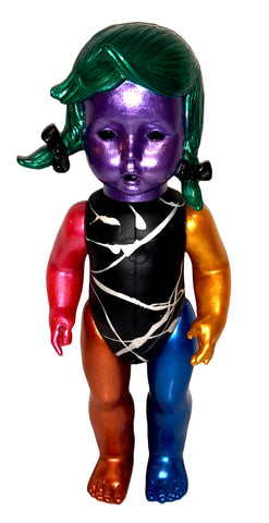 Goebel Girl Hand Painted Doll Custom Art Toy Figure BulletproofToyz