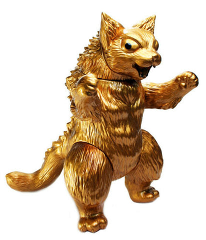 MaxToy Kaiju Cat King Negora Sofubi Rare Gold Version Kaijin Flabslab Exclusive Version Designer Toy